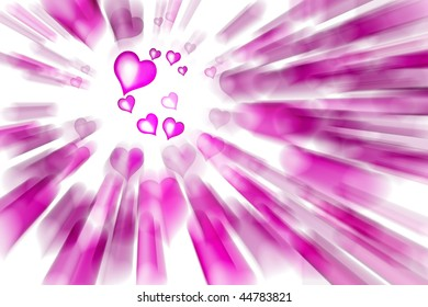 Valentine's pink Hearts