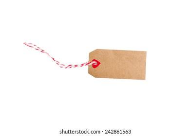 Valentines tag isolated on white background.