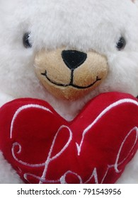 valentines white bear