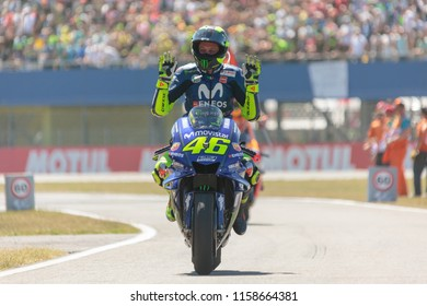 Valentino Rossi during MotoGP Motul TT Assen race in TT Circuit Assen (Assen - Netherlands) on July 1 2018