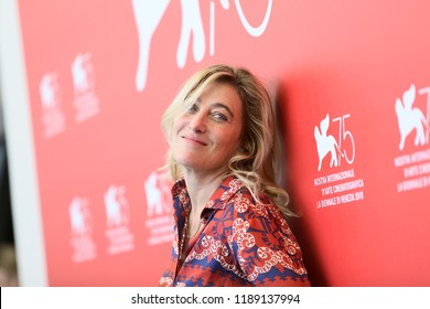 Valeria Bruni Tedeschi attends 'The Summer House (Les Estivants)' photocall during the 75th Venice Film Festival at Sala Casino on September 5, 2018 in Venice, Italy.