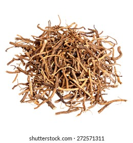 Valerian root for medical use. Isolated.