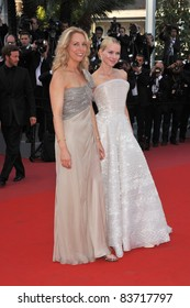 """Valerie Plame Wilson (left) & Naomi Watts at premiere for their movie """"Fair Game"""" which is in competition at the 63rd Festival de Cannes. May 20, 2010 Cannes, France Picture: Paul Smith / Featureflash"""
