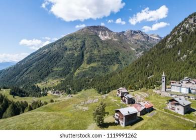 Valgrosina, little village in Eita. Valtellina
