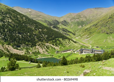 Vall de Nuria in the catalan pyrenees, Spain
