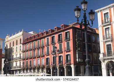 Valladolid (Castilla y Leon, Spain): historic buildings  in Plaza Mayor, the main square of the city