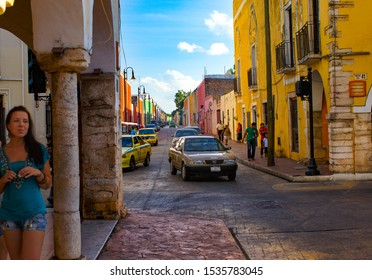 Valladolid, Mexico - September 15, 2019: streets of the city of Valladolid