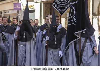 VALLADOLID, SPAIN - APRIL 17: Easter week (Semana Santa), Nazarene processions and bands of music, celebrations of international interest April 17, 2014 in Valladolid Spain