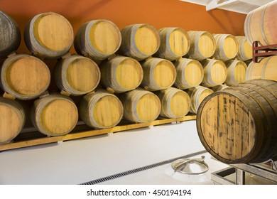 Valladolid, Spain   Junio 19, 2016. Wine cellar in Valladolid, Spain