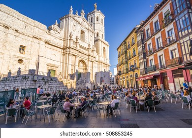 Valladolid, Spain - Novermber 2016: The Cathedral fo the city of Valladolid, Spain. It is located downtown, and it one of the touristic attractions of the city.