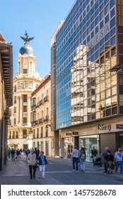 VALLADOLID,SPAIN - MAY 13,2019 - In the streets of Valladolid. Valladolid is made up of a variety of historic houses, palaces, churches, plazas, avenues and parks.