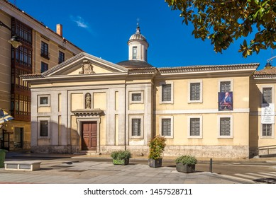 VALLADOLID,SPAIN - MAY 13,2019 - View at the building of Maonastery Santa Ana in Valladolid. Valladolid is made up of a variety of historic houses, palaces, churches, plazas, avenues and parks.