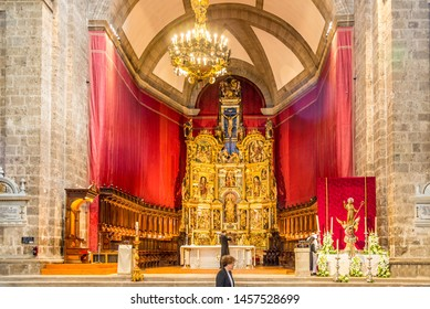 VALLADOLID,SPAIN - MAY 13,2019 - View at the Choir of Cathedral Our Lady of the Assumption in Valladolid. Valladolid is made up of a variety of historic houses, palaces, churches, plazas and parks.
