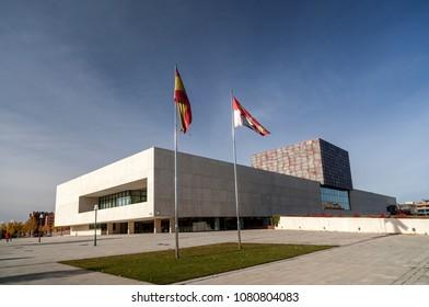 VALLADOLID,SPAIN-NOVEMBER 22,2012:Exterior building of Cortes of Castilla-Leon in Valladolid.