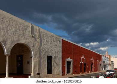 Valladolid,Yucatan/Mexico-9/4/2017: Old town in Valladolid. Historic centre of the city.
