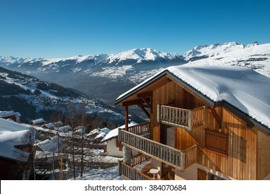 Vallandry , french alps , winter