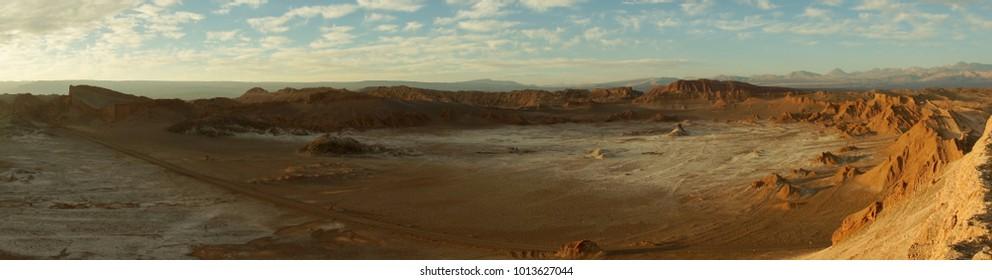 Valle de la Luna in the Atacama Desert, Chile.