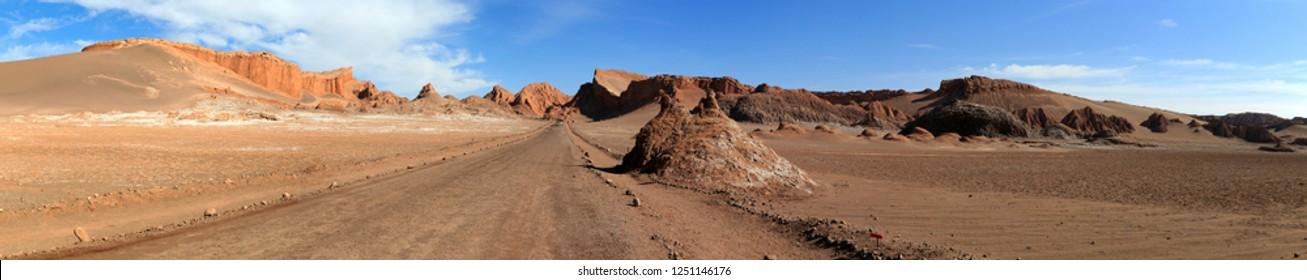 Valle de La Luna in the Atacama Desert in Chile
