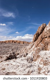 """The """"Valle de la Luna"""" or Moon Valley, located in the Atacama Desert, a place climatologists call absolute desert: the driest place on Earth, or one of the most inhospitable places in the planet."""