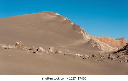 Valle de la Luna (Moon Valley) in Atacama Desert near San Pedro de Atacama, Antofagasta - Chile, South America
