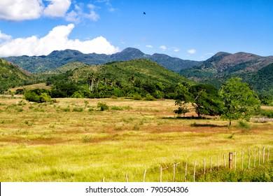 Valle de los Ingenios (Valley sugar mills) in Cuba, a famous tourist destination and a major sugarcane growing area. Trinidad