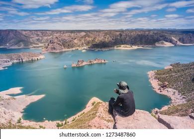 Valle Grande dam landscape at Mendoza - Argentina.