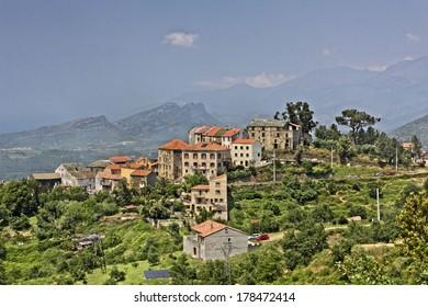 Vallecalle, mountain village in the Nebbio region, Northern Corsica, France, Europe