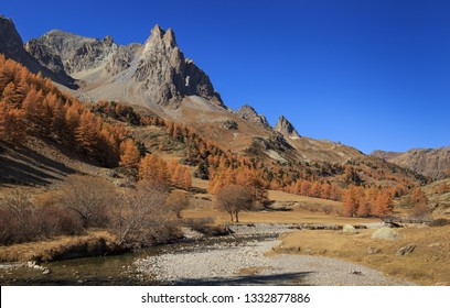 Vallee de la Claree during a clear day in autumn.