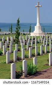 Vallee de la Somme. France.  06.01.12. The Australian Cemetery in the Vallee de la Somme in the Le Nord & Picardy region of France. A few of the war dead from the Battle of the Somme.