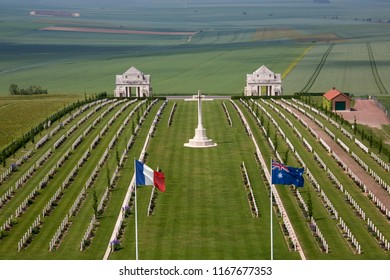 Vallee de la Somme. France. 06.02.12. The Australian Cemetery in the Vallee de la Somme in the Le Nord & Picardy region of France. The Battle of the Somme took place in the First World War.