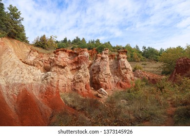 """The """" vallee des saints """" famous geological formation situated in Auvergne, France"""