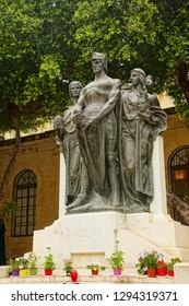 VALLETTA, MALTA - APR 12, 2018 - Memorial of the 1565 Siege by the Ottoman Empire, Valletta, Malta