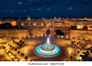 Valletta, Malta during Sunset, taken in November 2020
