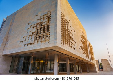 VALLETTA MALTA - MAY 2016: The new Parliament House of Malta. The building was constructed between 2011 and 2015 to designs by Renzo Piano as part of the City Gate Project located in Valletta Malta