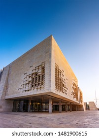 VALLETTA MALTA - MAY, 2016: The Parliament House of Malta. The building was constructed between 2011 and 2015 to designs by Renzo Piano as part of the City Gate Project located in Valletta Malta