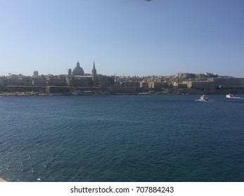 Valletta, Malta seen from the sea