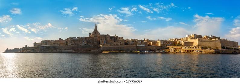 Valletta and Marsamxett Harbour, Malta