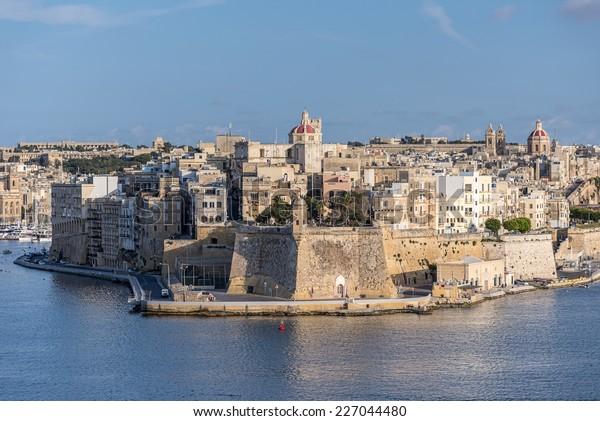 Valletta Skyline at summer day