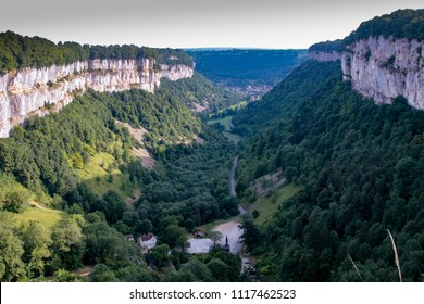 Valley above the old medieval village of Baume les Messieurs in France
