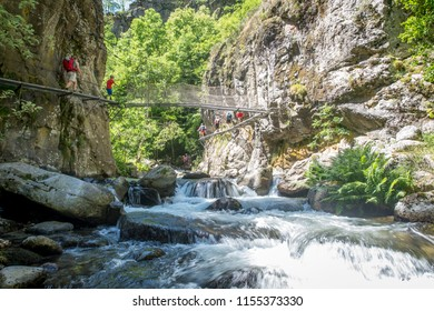 Valley of Caranca in Pyrenees orientales, Conflent in south of France