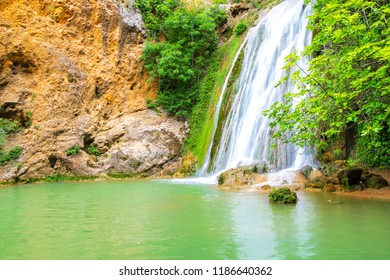 Valley of Carmes Waterfall in Barjols Provence Alpes Cote d Azur France