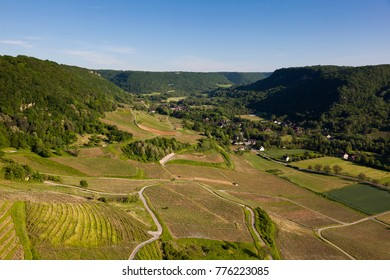 Valley in the Chateau-Chalon, Jura, Bourgogne-Franche-Comte, France