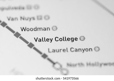 Valley College Station. Los Angeles Metro map.
