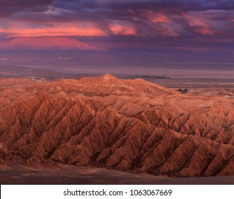 Valley of Death or Mars Valley in Atacama Desert Chile