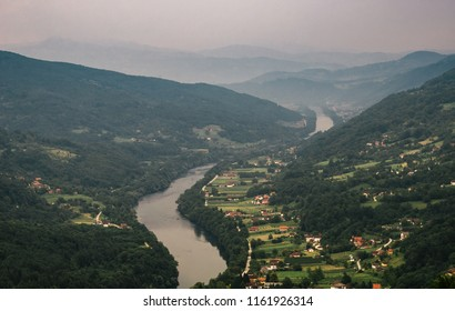 The valley of Drina river, Serbia