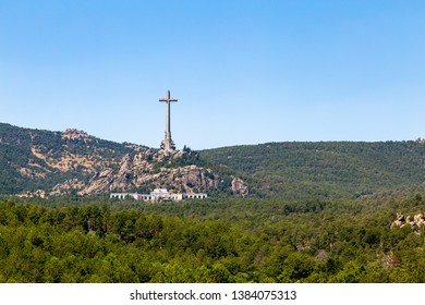 Valley of the Fallen (Valle de Los Caidos), the burying place of the Dictator Franco on the Sierra the Guadarrama, Madrid, Spain