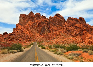 Valley of Fire rock formations in Nevada.