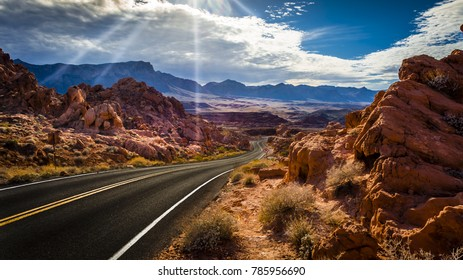Valley of Fire State Park.  Desert Valley Road