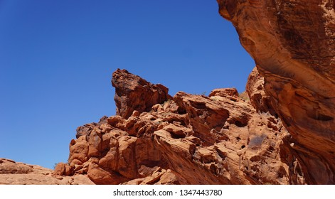 Valley of Fire State Park Nevada outdoor scenes of rock formations a scenic park of sandstone formations. Once occupied by the Pueblo Peoples who left rock petroglyphs in the oldest Nevada state park.