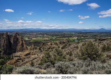 Valley floor of the Crooked River  near Smith Rock State Park, Central Oregon.